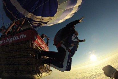 Ballonvaart met parachutesprong