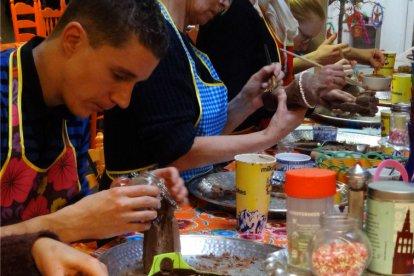 Workshop Beeldhouwen met Chocolade