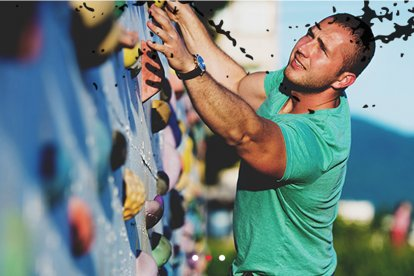 Outdoor klimmen: the Wall