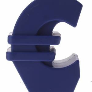 TOM spaarpot euro blauw 12 cm
