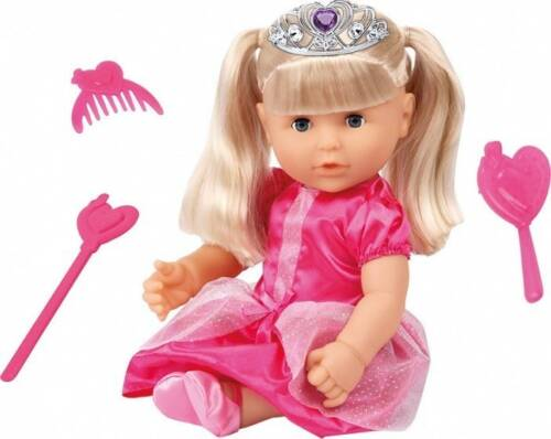 Bayer babypop met accessoires Charlene Sister roze 40 cm