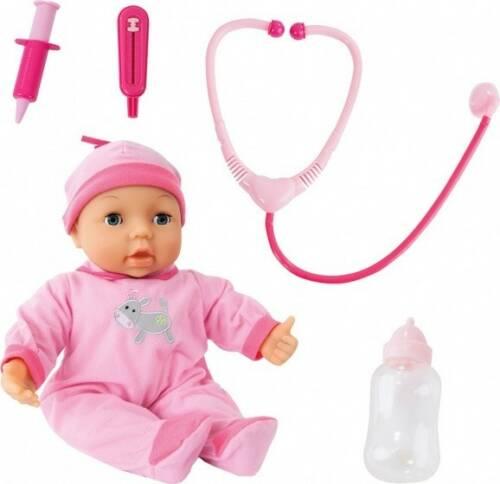Bayer babypop met doktersset roze 38 cm