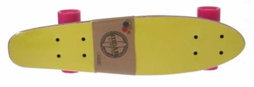 Black Dragon skateboard hout geel/grijs 57 x 15 cm