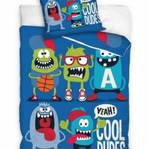 Carbotex Dekbedovertrek Coole Monsters 160 x 200 cm