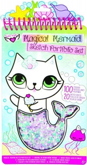 Crayola Fashion Angels kleur/stickerboek Mermaid 120 delig