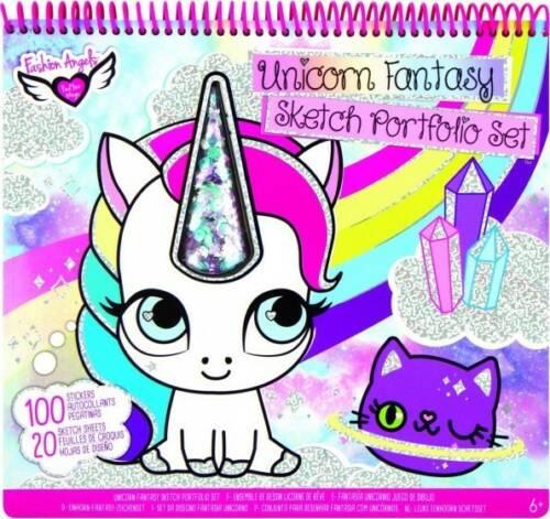Crayola Fashion Angels kleur/stickerboek Unicorn 120 delig