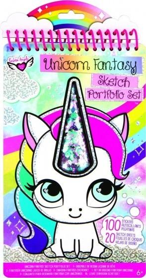 Crayola Fashion Angels kleur/stickerboek Unicorn F 120 delig