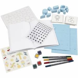 Creotime Textiel papier versierset 26 delig multicolor
