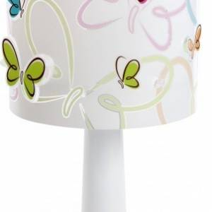 Dalber tafellamp Butterfly 29 cm wit