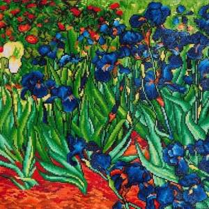 Diamond Dotz diamanten facetkunst Irissen Van Gogh 71 x 56 cm