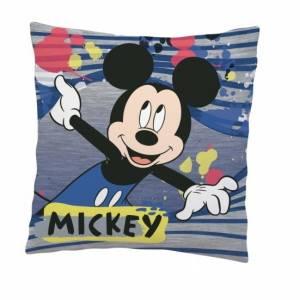 Disney Mickey Mouse kussen 35 x 35 cm grijs