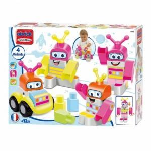 écoiffier Maxi Abrick: bouwblokken robotfiguren 4 delig