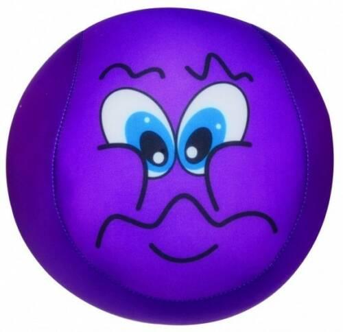 Eddy Toys bal met smiley pluche paars 15 cm