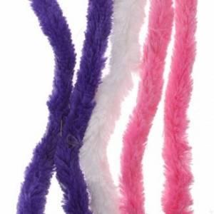 Eddy Toys chenilledraad roze/wit/blauw 30 cm 5 stuks