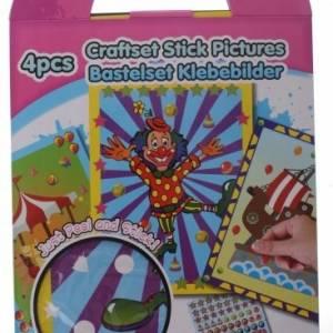 Eddy Toys knutselset plakplaatjes clown 4 delig