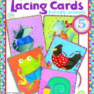 Eeboo Lacing Cards Friendly Animals