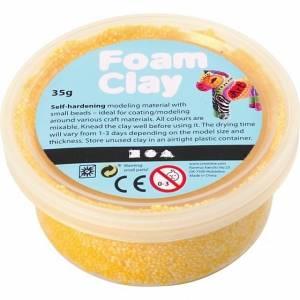 Foam Clay klei geel 35 gram (78924)