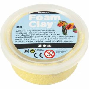 Foam Clay klei Metallic geel 35 gram (788780)
