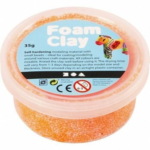 Foam Clay klei Neon oranje 35 gram (78928)
