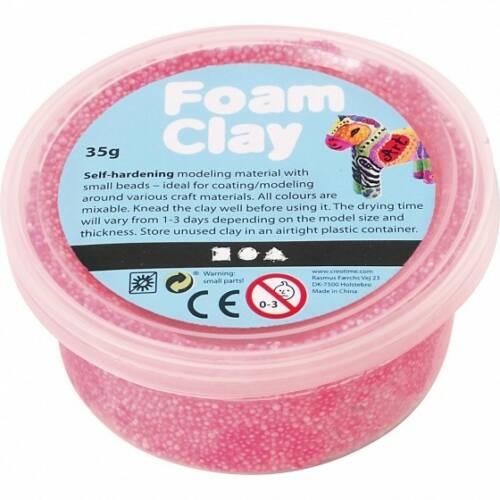 Foam Clay klei Neon roze 35 gram (78926)