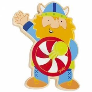 Goki kapstok viking hout 12 x 9 x 5 cm
