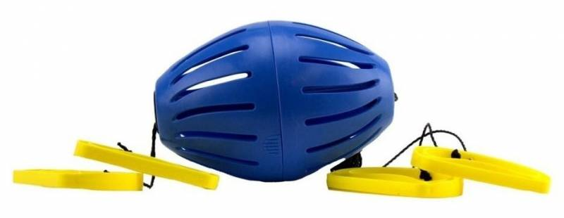 Goliath trekbalspel Zoomball Hydro geel/blauw