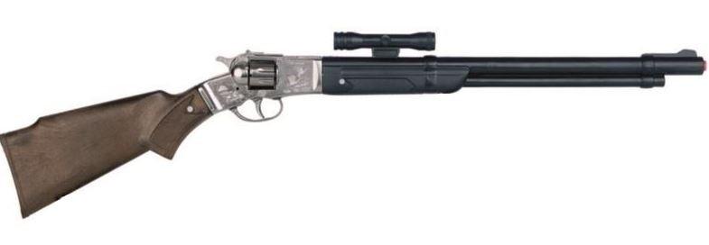 Gonher cowboy speelgoedgeweer met vizier 8 schots zilver