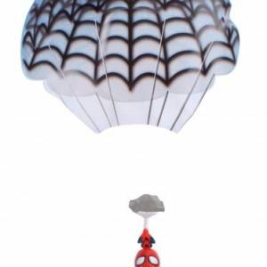 Kamparo kindervlieger Parachute Spider Man 45 cm rood