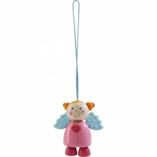 Haba kinderwagenhanger engel Sara 15 cm roze