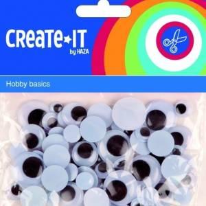 Haza Original knutselset Create It Bewegende Ogen 75 stuks