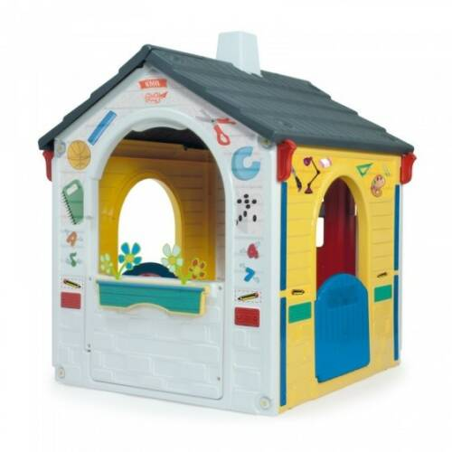 Injusa speelhuis Country Playhouse E Learning 121 cm wit