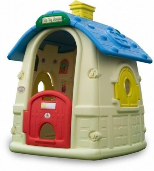 Injusa speelhuis Toy House crème/blauw 152 cm