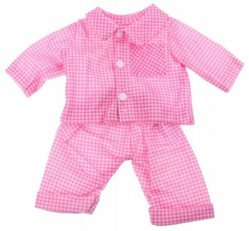Johntoy baby poppenkleren roze ruit