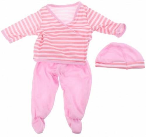 Johntoy baby poppenkleren streep roze