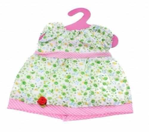 Johntoy Baby Rose Jurkje Roos groen 22 cm