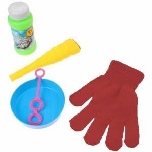 Jonotoys bellenblaas met handschoen 5 delig geel/rood