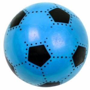 LG Imports bal voetbalprint blauw 16 cm