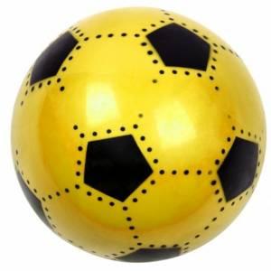LG Imports bal voetbalprint geel 16 cm