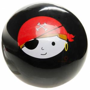 LG Imports speelbal piraat zwart maat 5