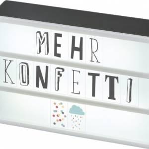 Moses lichtbox led Happy me 15 x 10.5 cm wit/zwart