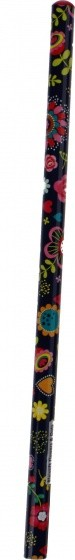 Moses potlood Flower and Dots blauw 18 cm