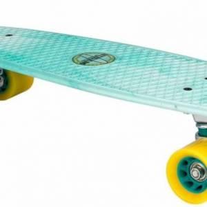 Nijdam skateboard kunststof mintgroen/geel 57 x 15 cm