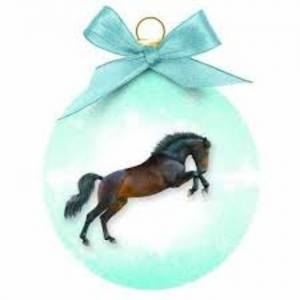 Otter House kerstbal paard blauw