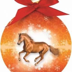 Otter House kerstbal paard oranje