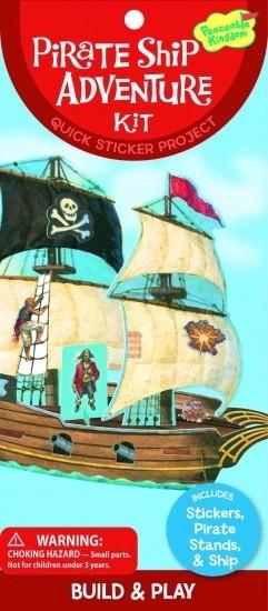 Peaceable Kingdom Sticker Kit Piratenschip