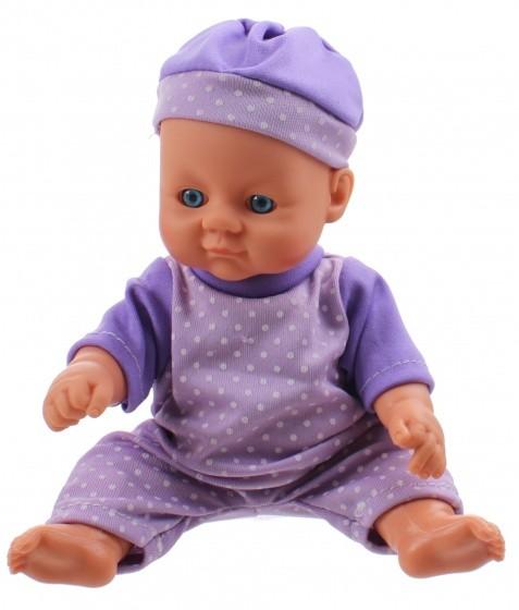 Toi Toys babypop met kledingset 20 cm paars