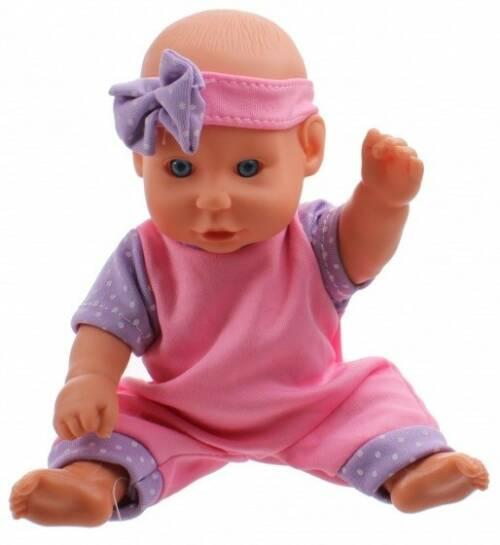 Toi Toys babypop met kledingset 20 cm roze/paars