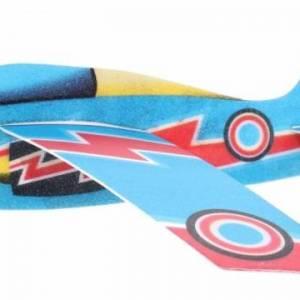 Toi Toys werpvliegtuig Air Hawk 44 cm foam 3 delig blauw