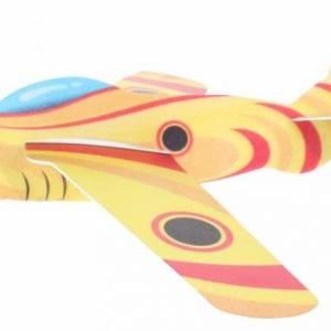 Toi Toys werpvliegtuig Air Hawk 44 cm foam 3 delig geel