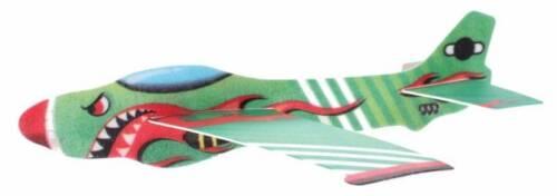 Toi Toys werpvliegtuig Air Hawk 44 cm foam 3 delig groen